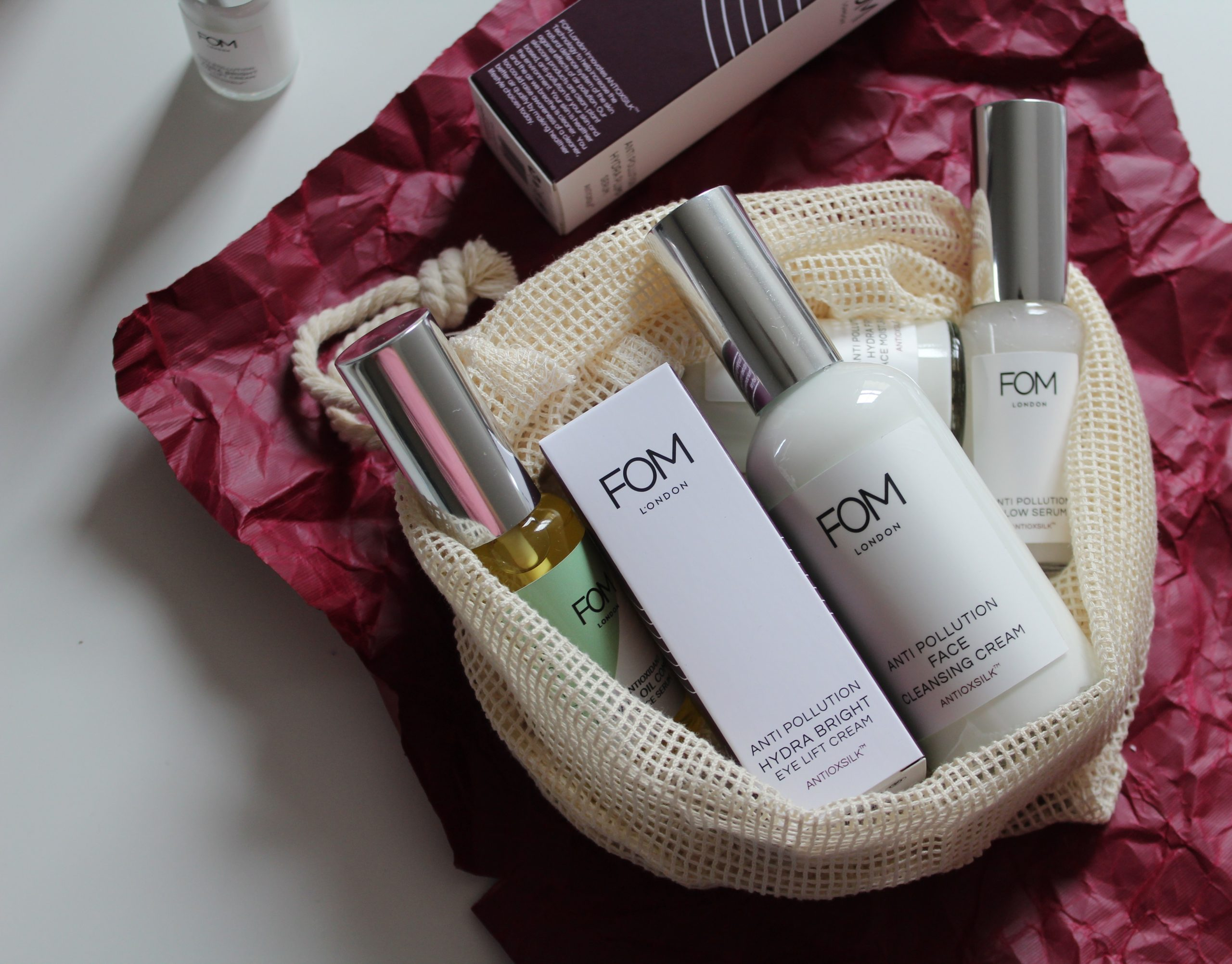 FOM London skincare products
